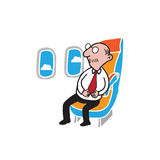 Airplane passenger senior businessman Royalty Free Stock Images