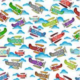 Airplane pattern on a white background. Airplane pattern, isolated objects on a white background Stock Photos