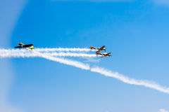 Airplane perform aerobatic Stock Image
