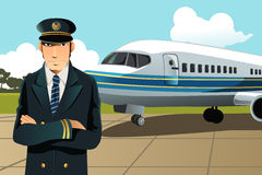Airplane pilot Royalty Free Stock Photos