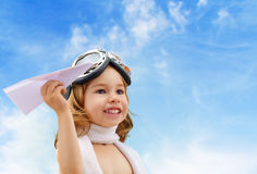Airplane pilot Stock Photo