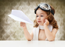 Airplane pilot Stock Images