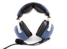 Airplane pilot headset Stock Photo