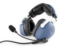 Airplane pilot headset Royalty Free Stock Photos