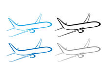 Airplane, plane, airplane symbol, stylized airplane Stock Photos