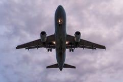Airplane platform view Stock Photos