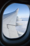 Airplane Porthole Royalty Free Stock Photography