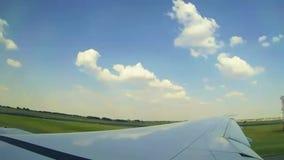 Airplane preparing to take-off. Video of Airplane preparing to take-off stock video