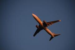 Airplane1. Primera Air, Boeing 737-800, registration OY-PSE, take off in Tallinn Stock Photo