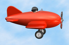 Airplane profile - isolated Royalty Free Stock Photo