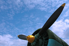 Airplane propeller Stock Photos
