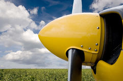 Airplane propeller. Close up of airplane propeller with beautiful natural background Stock Photos