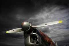 Propeller aircraft Royalty Free Stock Photos