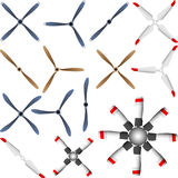 Airplane propeller Stock Images