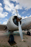 Airplane propeller on an airplane Royalty Free Stock Image