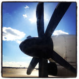 Airplane Propeller Close-Up Royalty Free Stock Images