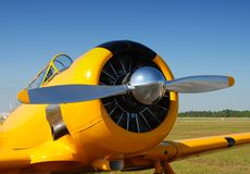 Airplane propeller closeup Stock Photo