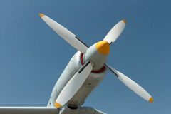 Airplane propeller engine Stock Photos