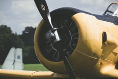 Airplane propeller. engine aircraft. airplane. Air shows, airplanes, small private jets. Photo of a propeller, an airplane engine.  air show Royalty Free Stock Photos