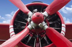 Airplane propeller engine Stock Photography