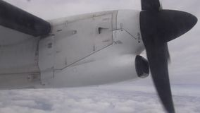 Airplane Propeller, Engines, Aircraft, Flight. Stock video of a propeller stock video