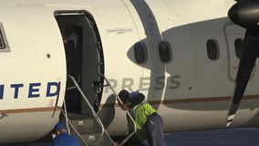 Airplane Propeller, Engines, Aircraft, Flight. Stock video of aircraft engines stock footage