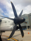 Airplane Propeller On The Runway Royalty Free Stock Photos