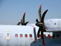Airplane propellers Stock Images