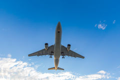 Airplane ready for landing Royalty Free Stock Photography