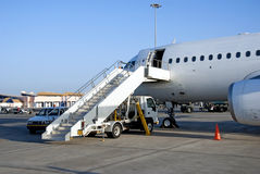 Airplane ready for passengers Stock Photography