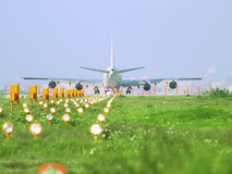 Airplane ready for take off royalty free stock photo