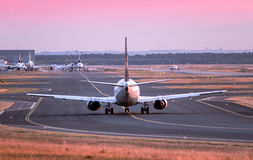 Airplane ready to take off Royalty Free Stock Images