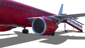 Airplane in red Royalty Free Stock Photography
