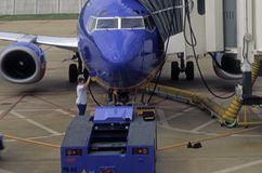 Airplane refueling Stock Photos