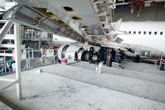 Airplane repair and modernisation Royalty Free Stock Image