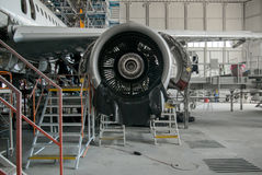 Airplane repair and modernisation Royalty Free Stock Photos