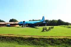 The airplane restaurant in the area Koggala Royalty Free Stock Photography