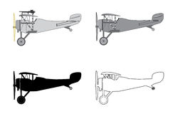 Airplane Retro Biplane modelo Fotos de archivo libres de regalías