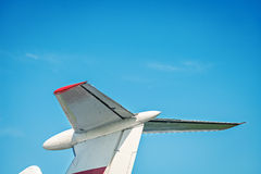 Airplane retro vintage tail detail Royalty Free Stock Photography