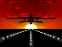 Airplane and rise Royalty Free Stock Photography