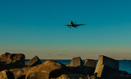 Airplane Rocks Royalty Free Stock Images