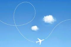 Airplane route Stock Photo