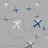 Airplane route destinations illustration design Stock Image