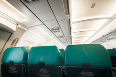 Airplane with row of seats Stock Photography