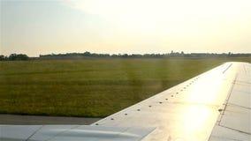 Airplane Running On Airstrip stock video