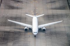 Airplane on a runway. Stock Photography