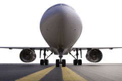 Airplane on runway Stock Images