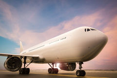 Airplane on runway Royalty Free Stock Image
