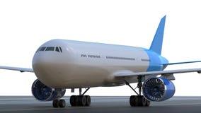 Airplane on runway Stock Photos