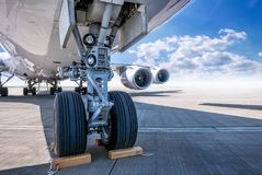 Airplane on a runway Stock Photo